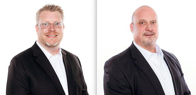 Robert Herzog, left, and Mark Stokes.