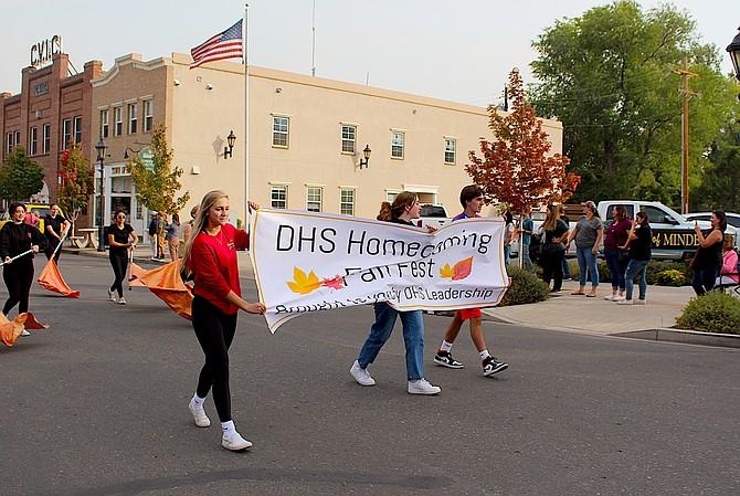 Wednesday's Douglas High homecoming parade down Esmeralda Avenue on Wednesday.