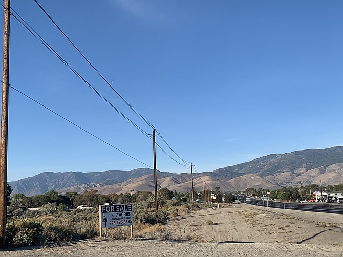 Carson Valley Meats is proposing a slaughterhouse in the industrial zone along Highway 50. Some of the closest residents to the parcel include a mobile home community to the west of the lot, and a neighborhood along E. Nye Lane, roughly northwest of the lot, across the highway.