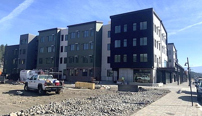 Construction continues at the Truckee Artists Lofts project in downtown Truckee.
