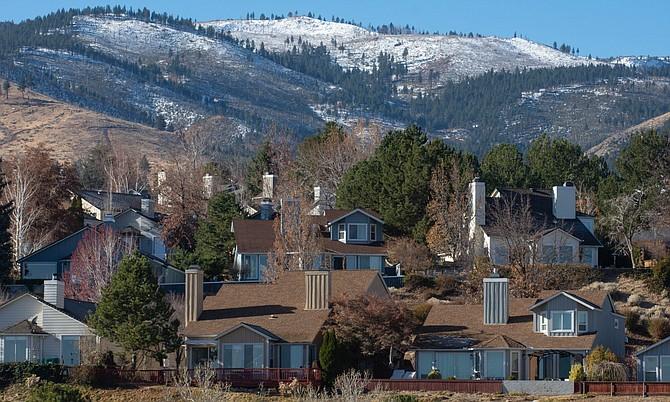 Houses in Reno on November 28, 2020.
