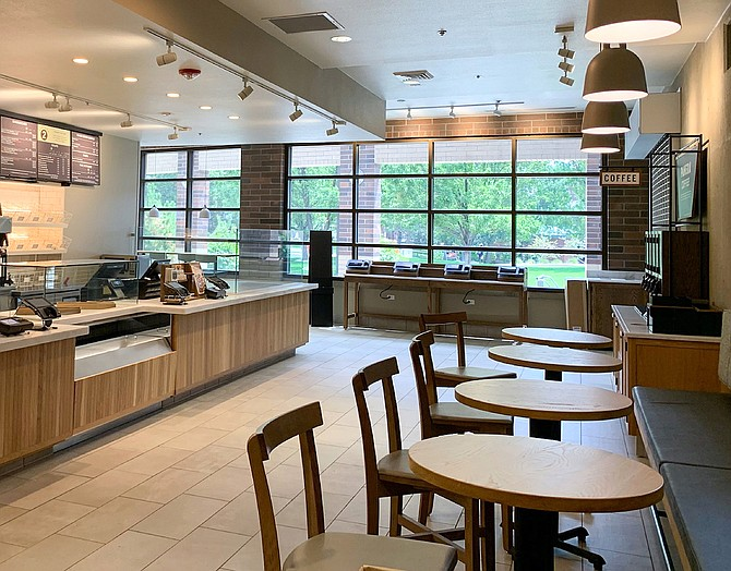 A look inside the Panera Bread branch located on the University of Nevada, Reno campus.