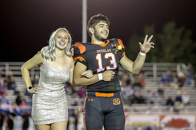 Homecoming King Gabe Foster and Queen Jordan Dekruyf were crowned on Friday night.