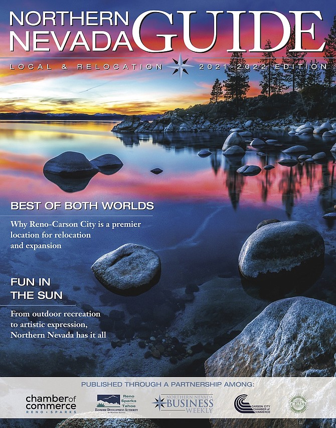The cover page of the 2021-2022 Northern Nevada Guide, a specialty magazine of the Northern Nevada Business Weekly.