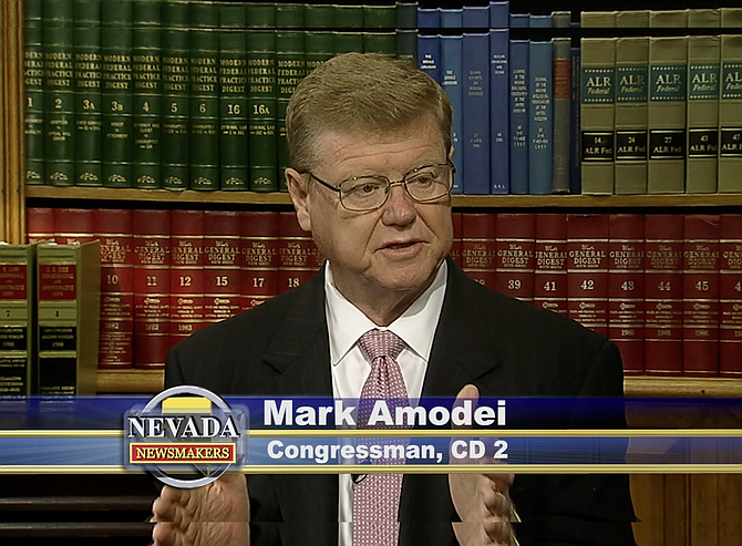 Screenshot of U.S. Rep. Mark Amodei appearing on 'Nevada Newsmakers' that aired Tuesday, Sept. 28.