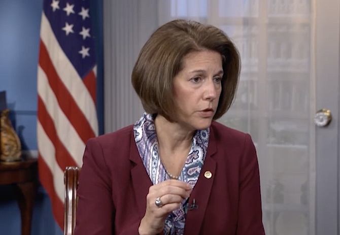 U.S. Sen. Catherine Cortez Masto is seen in a screenshot from her appearance on Nevada Newsmakers that aired Sept. 29, 2021.