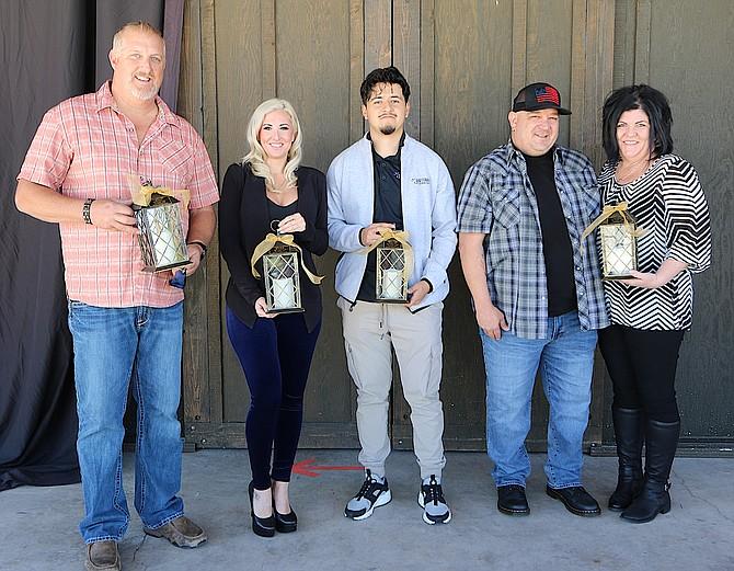 Spotlight winners Keith Hart, Tiffany Sargent, Mario Lobatos, Ben and Amber Larimer