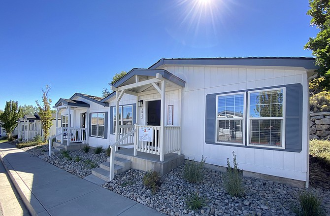 The exterior of a cottage on STEP2's Lighthouse campus in North Reno that was refurbished by Tanamera Construction for the fifth annual cottage makeover, which was celebrated on Thursday, Sept. 30, 2021.