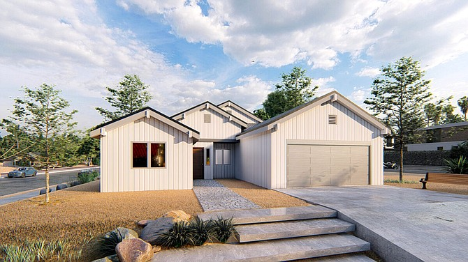 Conceptual view of one of the 1,663-square-foot homes available at Green Valley Ranch.