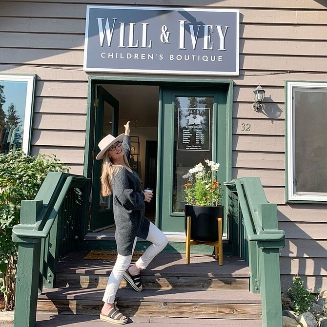 Sandra Ney stands outside the new business located at 292 Kingsbury Grade in Stateline, on the Nevada side of Lake Tahoe's South Shore.
