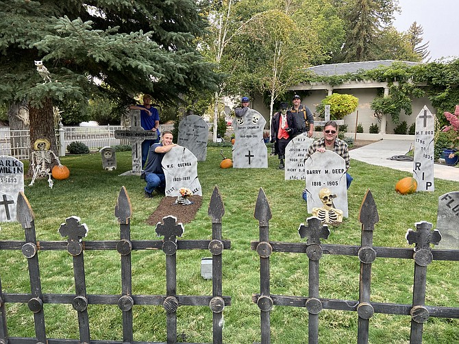 The Haunted Mansion crew include from back left to right: Trusty Ryan Churchill, Maintenance Repair Specialist Phil Nemanic, and State Painter Mike Carpenter; front row from left to right: trusty Luke Roseveare and Facilities Supervisor Ron Bodnar. (Photo: Teri Vance)