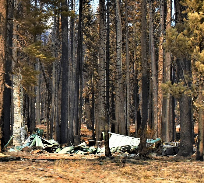A structure destroyed in the Caldor Fire near Strawberry, Calif., on Oct. 1. Photo by Tim Berube