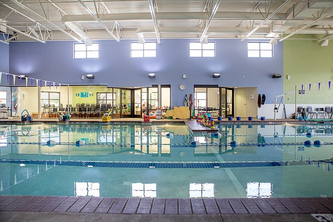 A look at the swimming pool inside Silver Bear Swim School's facility on Los Altos Parkway in Sparks. Owners Tim and Katie Hall acquired the building thanks to a new refinancing program allowed by the SBA.