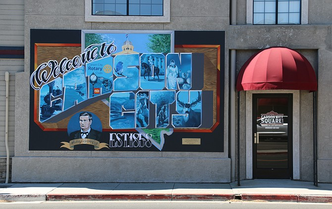 """The revised Arts and Culture Master Plan includes a new action item for the CTA and CCCC to designate an official """"arts district"""" or """"cultural corridor"""" within the downtown area. Above, a mural on the Visit Carson City building by artist Abner Rivera, dedicated in July. (Photo: Faith Evans/Nevada Appeal, file)"""