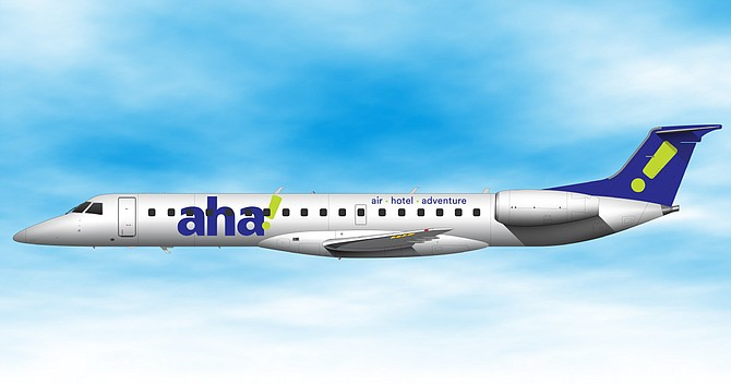 The company will operate Embraer ERJ145 aircraft, as mocked here, from RNO.