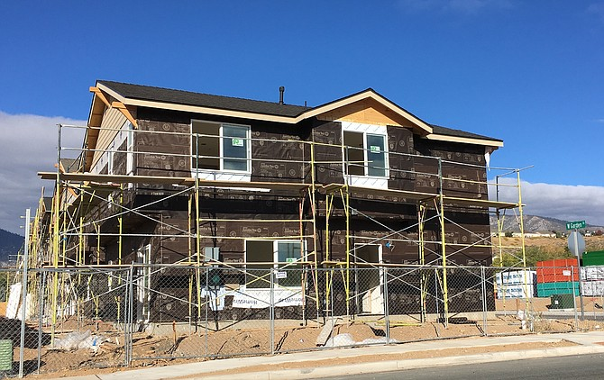 Work on new homes is under way along Vista Grande in Indian Hills.