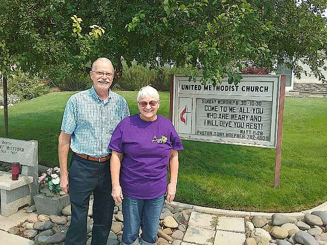 Pastor Tony Hoefner and Edie Veatch look forward to a new beginning for Alpine Kids