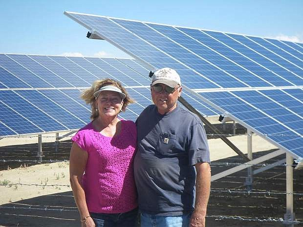 Dianne and Lee Hutchens used a REAP grant to help them build a solar array on their ranch outside of Austina. The USDA funding can pay up to 25% of the project costs for a renewable energy system, such as solar, wind, geothermal or hydro.
