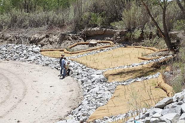 This is a look at the latest streambank stabilization project completed through a partnership between the Walker River Paiute Tribe and NRCS Nevada.