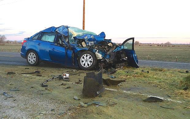 Justin Edgemon of Fallon was killed in a two-vehicle collision on Tuesday on U.S. Highway 50.