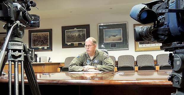 Brig. Gen. Bill Burks recollects Tuesday about Lee Behel who was killed at the Reno Air Races on Monday.