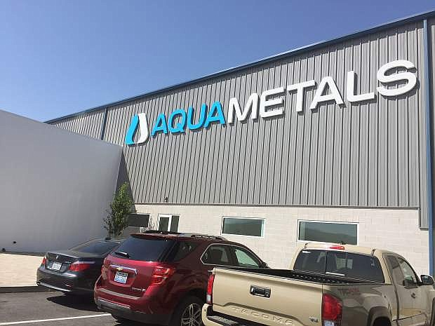 Aqua Metals, a lead-acid battery recycling company, recently held an opening ceremony for their new 135,000-square-foot AquaRefinery in TRIC.