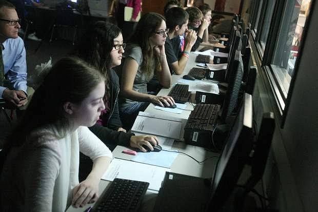Students in Jim Bean's class work in the computer lab on Wednesday.