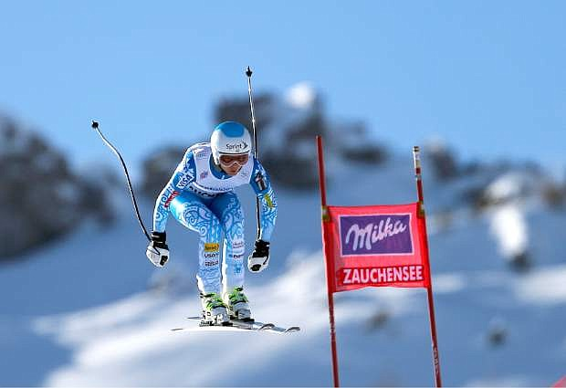 Julia Mancuso, competes Jan. 11 during an alpine ski World Cup women's downhill, in Altenmarkt Zauchensee, Austria.