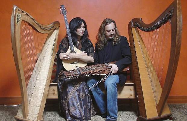 Harpists Lisa Lynne and Aryeh Frankfurter are stopping in Carson City to share their music of Celtic and Swedish roots.