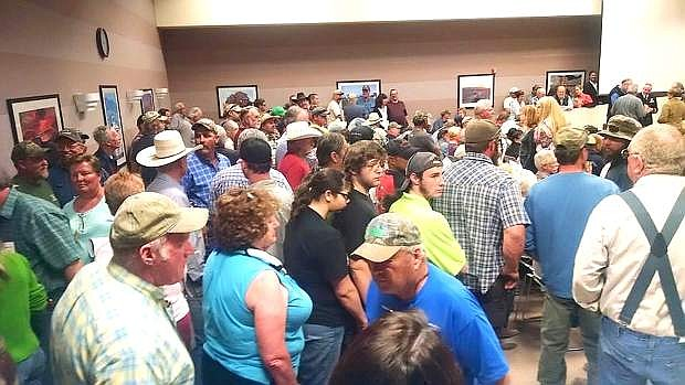 Concerned residents packed in the commission chambers Thursday night to voice their opinion regarding the Bureau of Land Management's Resource Management Plan.