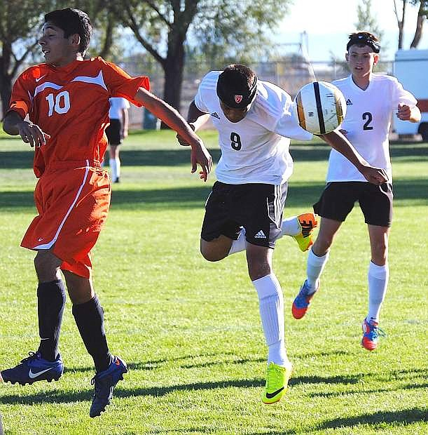 Fallon's Fidel Enriquez scored five goals during the Wave's 10-1 win over Fernley on Wednesday at the Edward Arciniega Complex.