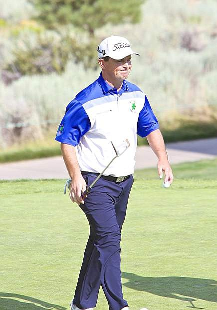 Greg Chalmers walks off the green on Saturday during the Barracuda Championship in Reno. Chalmers won the event on Sunday.
