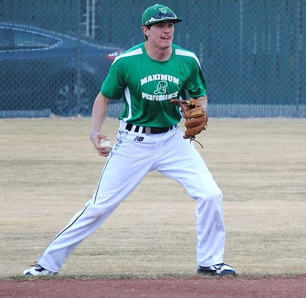 Fallon shortstop Sage Orozco fields a ground ball during practice. The Greenwave begin the season Thursday at the Mike Beaman Tournament in Reno.