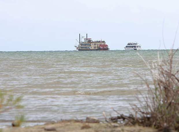 The Tahoe Queen became stuck in shallow water on Aug. 4 due to low lake levels, forcing its evacuation and rescue of about 300 people.