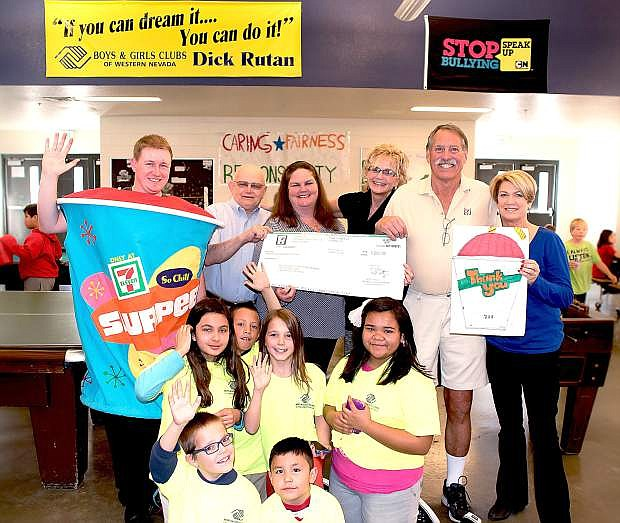 The 7-11 stores in Carson City teamed up to make a $1,000 donation to the Boys & Girls Clubs of Western Nevada. Money donated is for the sports, fitness and recreation programs the Clubs offer to the kids.