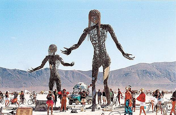Fanciful and frivolous displays are the norm at the annual Burning Man  celebration.