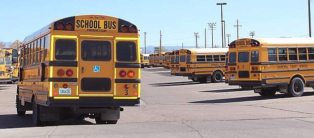 Churchill Couynty School District's Transportation branch is looking at two bids for buying school buses.