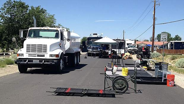 The Sierra Breeze exercise rerouted traffic on Rice Road  through Carson River Drive..