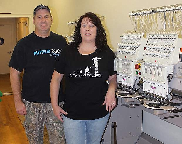 Buttsup Duck Designs owned by John and Kelly Campbell  has received a small business loan to expand its operation with the purchase of additional equipment and the addition of one employee.