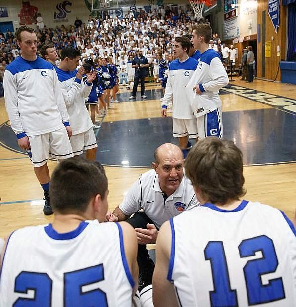 Carson High boys basketball coach Carlos Mendeguia was named top Sierra League coach.