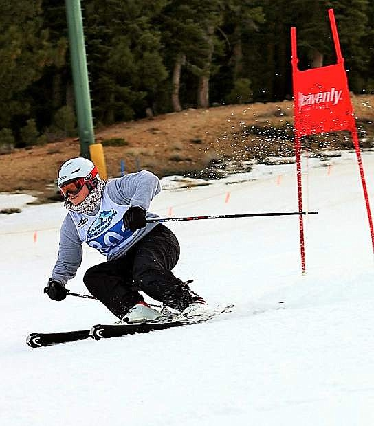 Erna Knobel took fourth during the Heavenly duels on Wednesday.