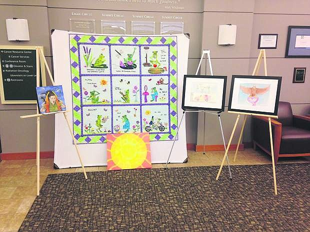 An art display by local cancer patients is on display through Friday at Carson Tahoe Cancer Center in Carson City.