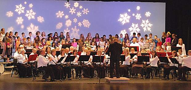 The Capital City Community Bands performs with Carson City School District last year. The band will present its annual fundraising concert Sunday at First Presbyterian Church in Carson City.