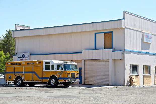 Carson City firefighters have been training in this old building that is slated for demolition at 1108 S. Stewart St, on the backside of the Carson Mall.