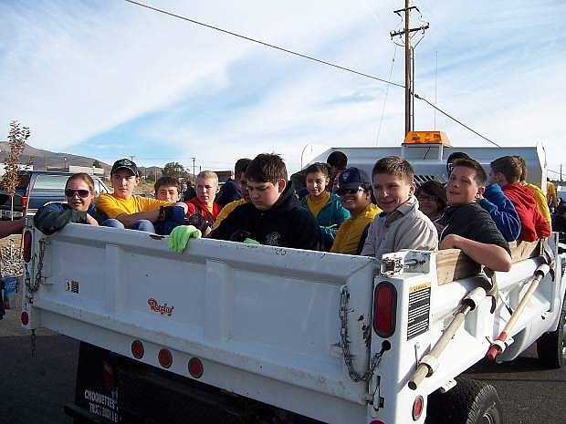 Instead of a dump truck full of Carson High School Naval Junior Reserve Officers Training Corps Cadets, there were ten dump truck loads of garbage hauled to the dump.