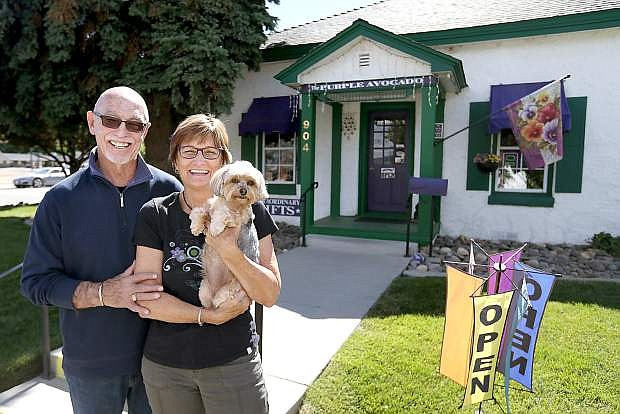 The Purple Avocado owners Stan and Sue Jones will celebrate the 15th anniversary of their Carson City store on Saturday, June 25, with refreshments and special deals.
