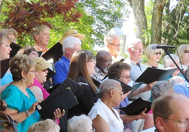 Carson Chamber Singers in June Pops Party concert.