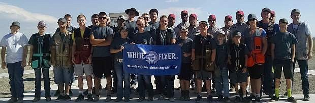 The Lahontan Valley Claybreakers pose after hosting talent from across the state in the state shoot in Fallon.