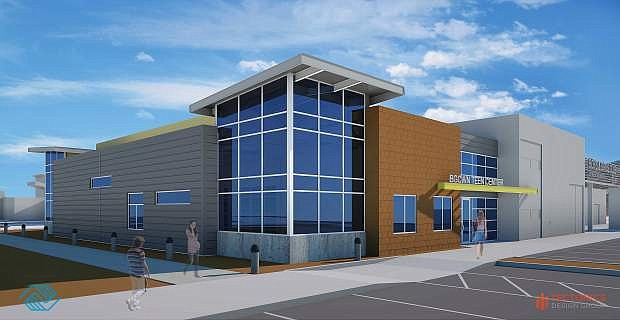 A rendering of the the Boys and Girls Clubs of Western Nevada planned   teen center.