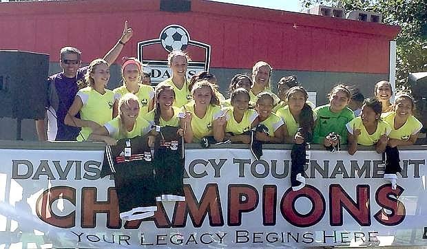 The Carson FC Wolfpack U17 girls won U19 division of the Davis Legacy Showcase recently.